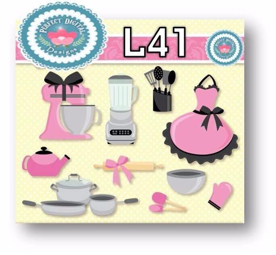 1 Kit Imprimible X6 Cocina Utensilios Cliparts Fondos Tags 198