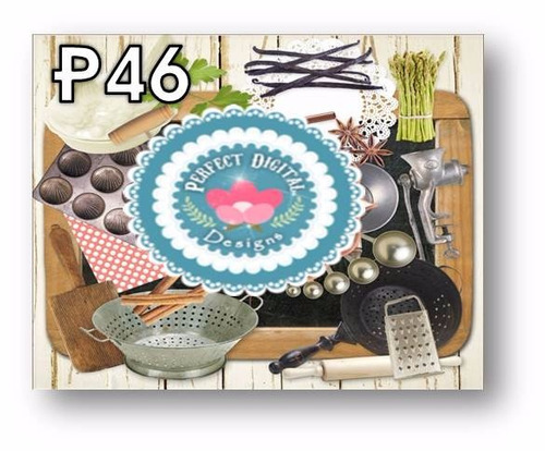1 kit imprimible x6 cocina utensilios etiquetas frascos tags