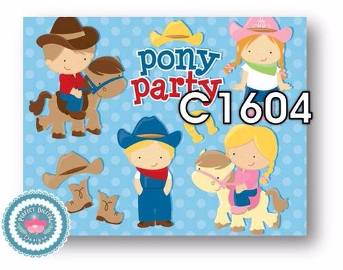 1 kit imprimible x6 cowboy cowgirl vaqueros p/ souvenirs tag