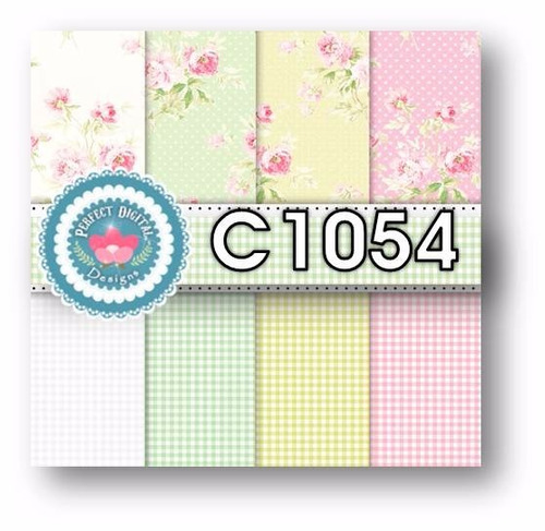 1 kit imprimible x6 cuadrille country puntos p/ fondos papel