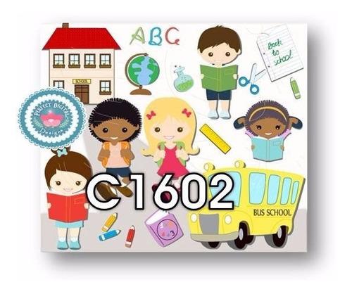 1 kit imprimible x6 escolar folletos clases aula diseños y+