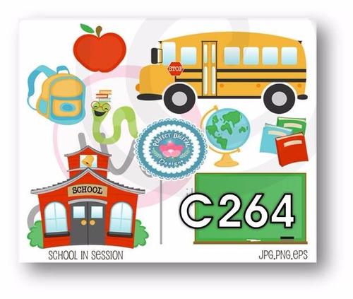 1 kit imprimible x6 escolar imagenes ingles clases aula clip