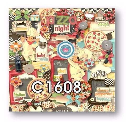 1 kit imprimible x7 pizza party delivery cliparts fondos tag