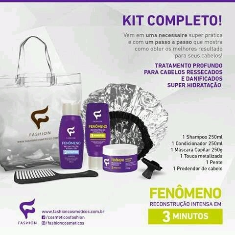 1 Kit Sacolinha Fenômeno Reconstrução Intensa R 4450 Em Mercado