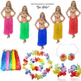 899ded9aaaf1 1 Kit Set Hawaiano Accesorios Fiesta Batucada Aloha Disfraz