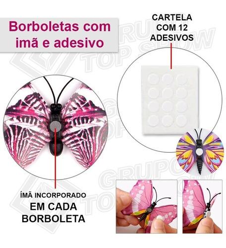 1 kits 12 borboletas decorar festa bolo quarto sala cozinha