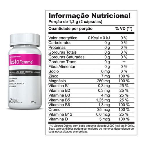 1 l-carnitina + 1 thermogenizefemme + 1 testofemme