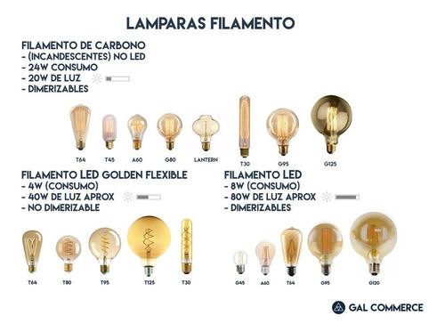1 lampara filamento + 1 portalampara plastico! guirnalda