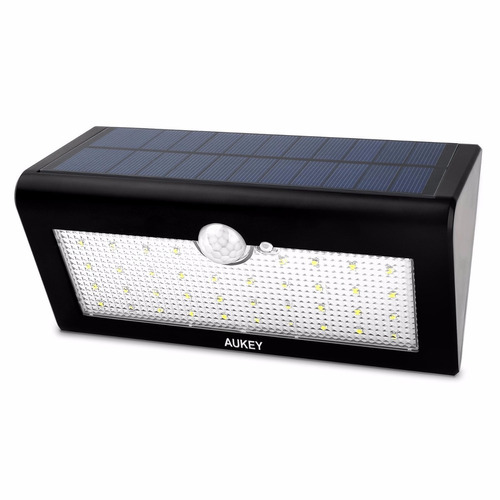 1 lampara reflector externa c sensor panel solar 38led 500lm