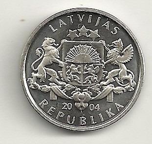 1 lats 2004 - letônia - cogumelo