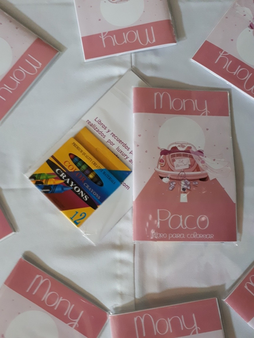 1 Librito Para Colorear Personalizado, Para Bodas. - $ 59.00 en ...