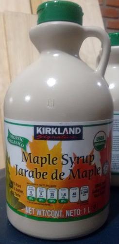 1 litro jarabe de maple organico arce syrup hotcake sirope