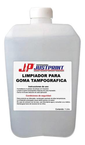 1 litro limpiador de goma tampografica de tintas just print