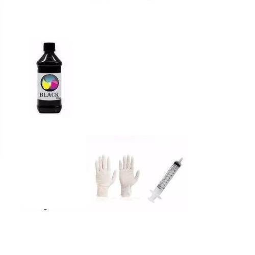 1 litro tinta corante epson canon hp lexmark ecologic preta