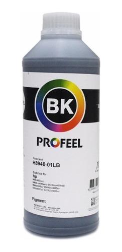 1 litro tinta hp pigmentada profeel h8940-01-lb preto