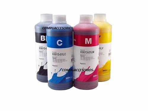 1 litro tinta inktec dividido 4 colores para epson durabrite