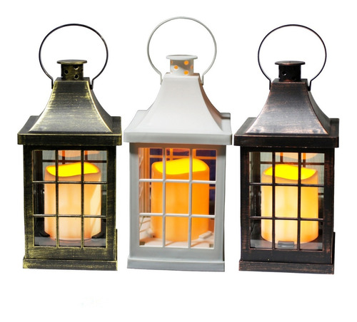 1 luminaria lanterna marroquina vela led decoraçao lampiao
