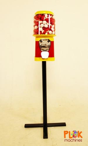 1 máquina 1000 bolinhas 27mm, 1 pedestal kit vending machine