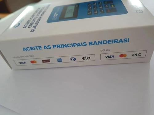 1 maquininha point mini cartão crédito e débito + 1 brinde