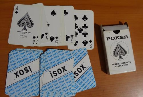 1 mazo de baraja de poker marca senosiain isox plastificada