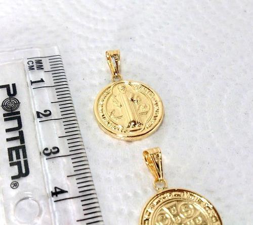 1 medalla san benito en 100% oro de 18k 750 despacho 3 dias