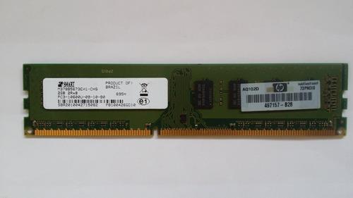1 memoria 2gb ddr3 desktop smart hp 1333 envio gratis