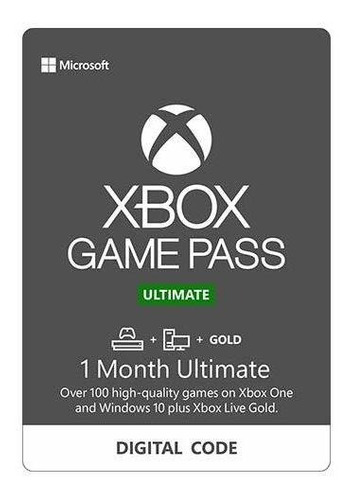 1 mes live gold + game pass | game pass ultimate en codigo