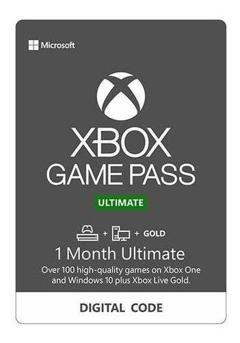 1 mes live gold + game pass | game pass ultimate en codigo