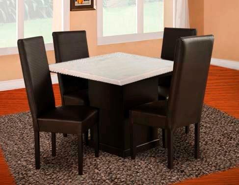 1 mesa de madera con cub de marmol para comedor de 4 per for Comedores en oferta en monterrey