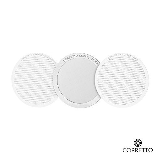 1 mesh pro filtro reutilizable para la cafetera aeropress -