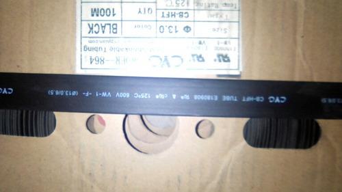 1 metro de cinta termo-encogible/ajustable de 13.0 mm - negr