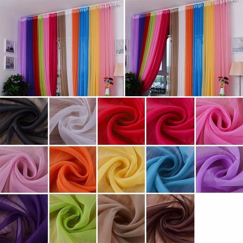 1 metro - tecido voil (voal) várias cores 3 metros largura