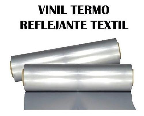 1 metro vinil reflejante textil termo adherible