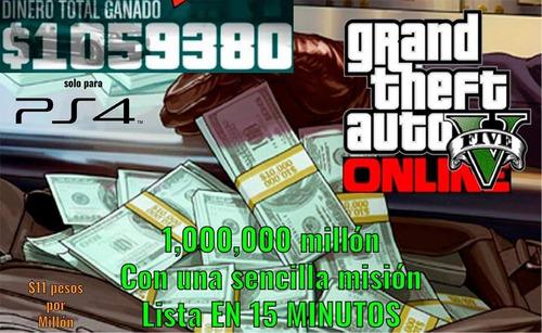 1 millon en gta 5  online(xbox one)
