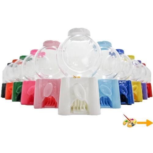 1 mini baleiro candy machine p/ personalizar doce adesivo