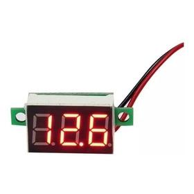 1 Mini Voltímetro Digital 2fios Led Verm. 4,5v-30v-0,36