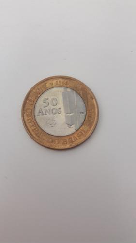 1 moeda de 1 real comemorativa 50 anos bacen