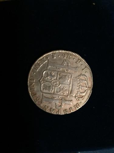 1 moneda plara 4 real p.j. fernando vll 1820 potosi bolivia
