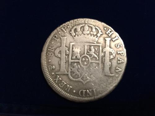 1 moneda plata 8 reales carolus llll 1801 potosi bolivia
