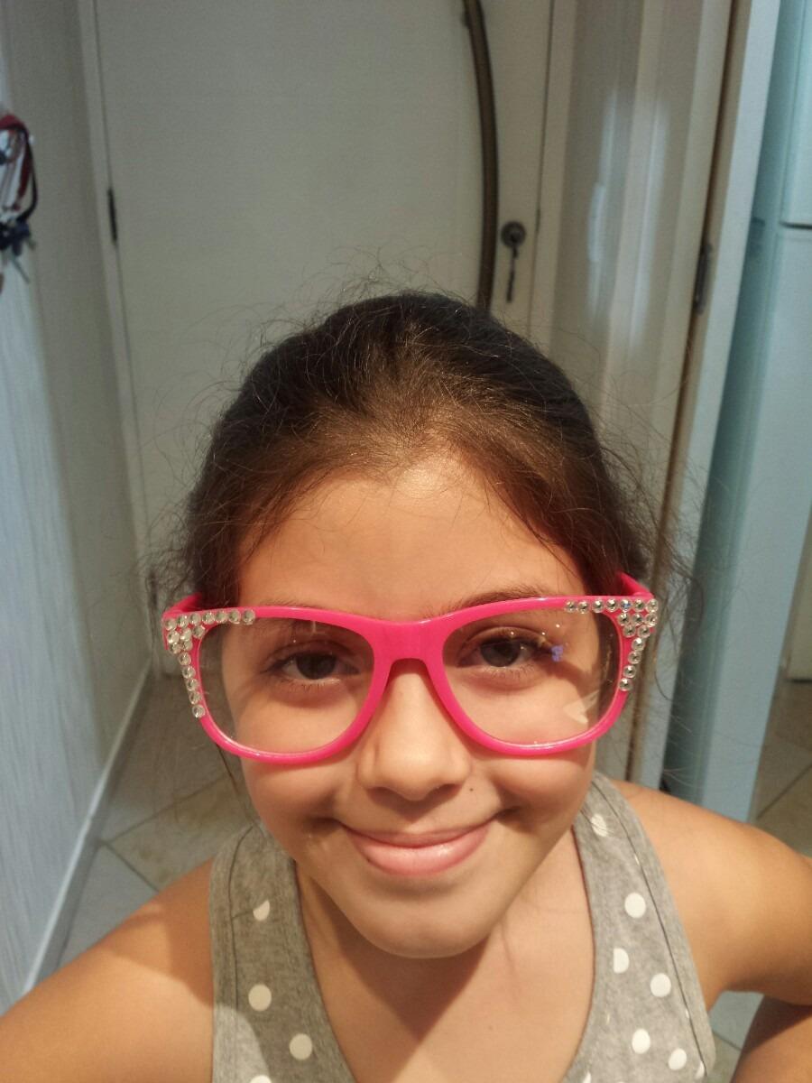 3197f6bae9c5d 1 Óculos Sem Grau Cor Rosa Larissa Manoela Sbt Cúmplice De - R  79 ...