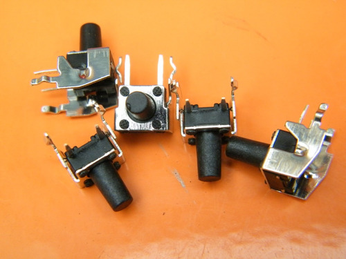 1 pack 10 unidades tact switch 6x6x9.5mm 4 pines  ts-03