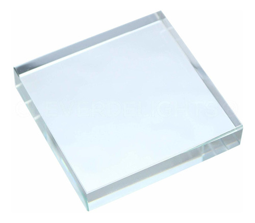1 pack - cleverdelights 3 pulgada cuadrada cristal de la tej