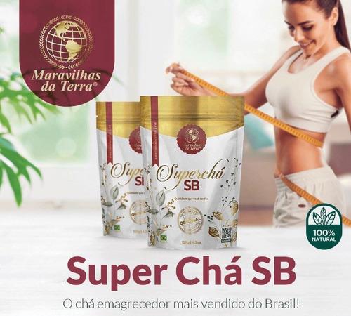 1 pacotes super chá sb maravilhas da terra - 100% original