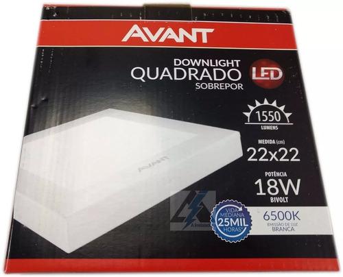 1 painel, luminária plafon led quadrado 18w painel sobrepor