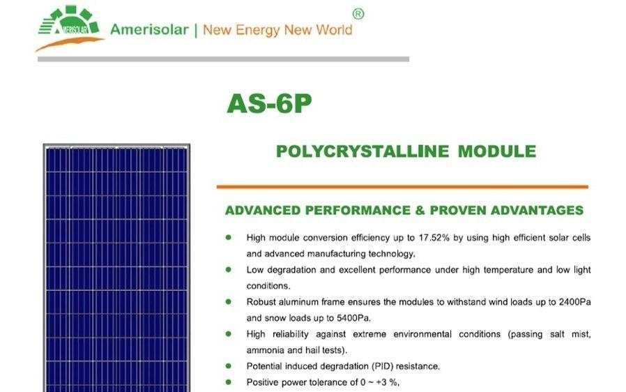1 Panel Solar De 325 Watts Para Ahorro De Luz