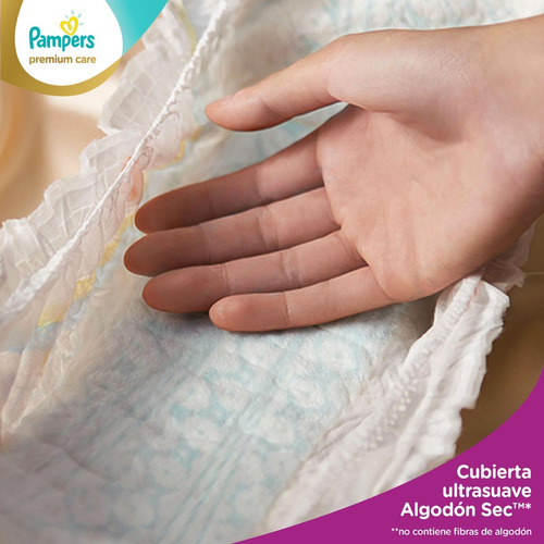 1 paquete pañales  pampers premium care 86 unidades talla m