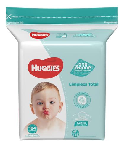 1 paquete toallitas húmedas one&done 184 unidades