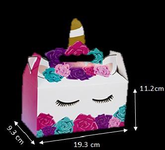 1 paquete unicornio mesa d dulces cajita dulcero palomitas