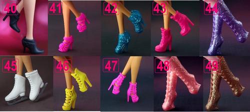 1 par de bota * sapato p/ boneca barbie *escolha o sapatinho