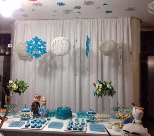Decoração Com Voal ~ 1 Par De Cortina Voal Painel Festa Branca R$ 189,90 em Mercado Livre
